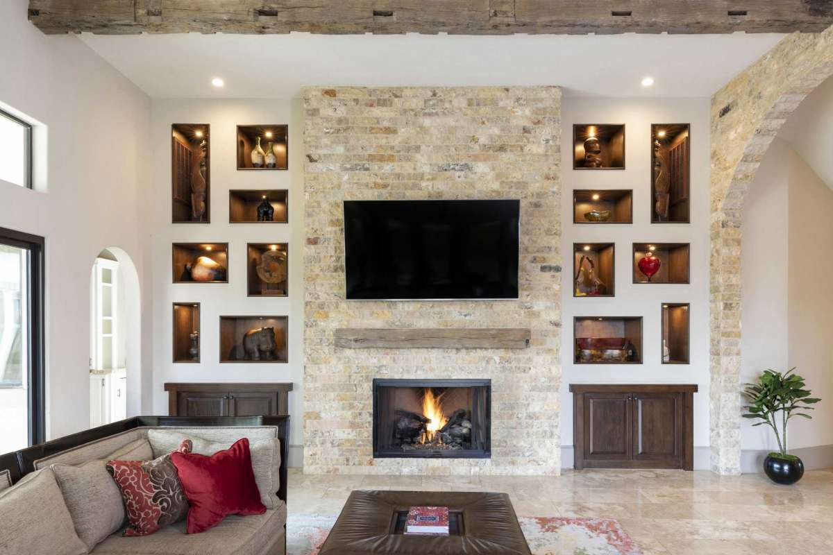 4 Fireplace Art Niches